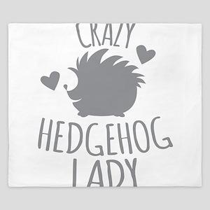 Crazy Hedgehog Lady King Duvet