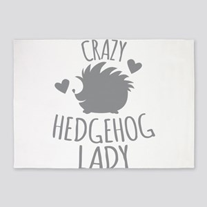 Crazy Hedgehog Lady 5'x7'Area Rug