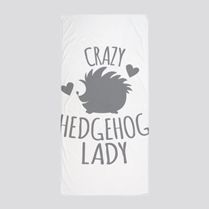 Crazy Hedgehog Lady Beach Towel