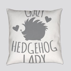 Crazy Hedgehog Lady Everyday Pillow