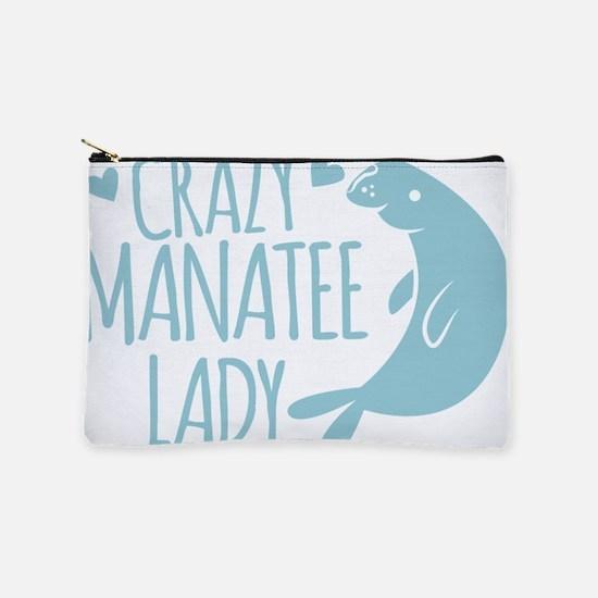 Crazy Manatee Lady Makeup Bag