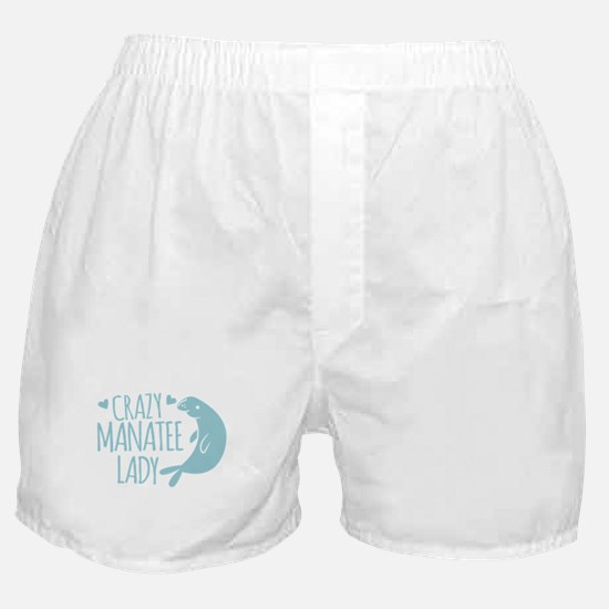 Crazy Manatee Lady Boxer Shorts