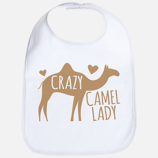 Crazy Camel Lady Baby Bib