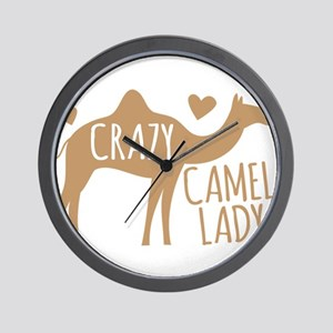 Crazy Camel Lady Wall Clock