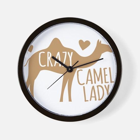 Crazy Camel Lady Wall Clock