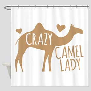 Crazy Camel Lady Shower Curtain