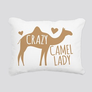 Crazy Camel Lady Rectangular Canvas Pillow