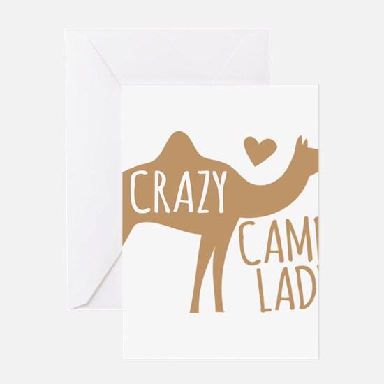 Crazy Camel Lady Greeting Cards