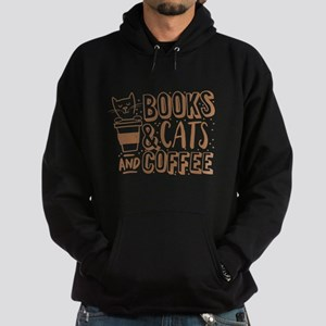 Books and cats and coffee Jumper Sweatshirt