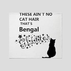 bengal glitter Throw Blanket