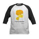 I Love Cheeses Kids Baseball Jersey