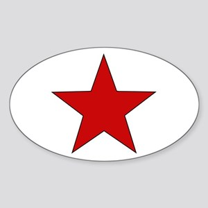 Red Star Oval Sticker