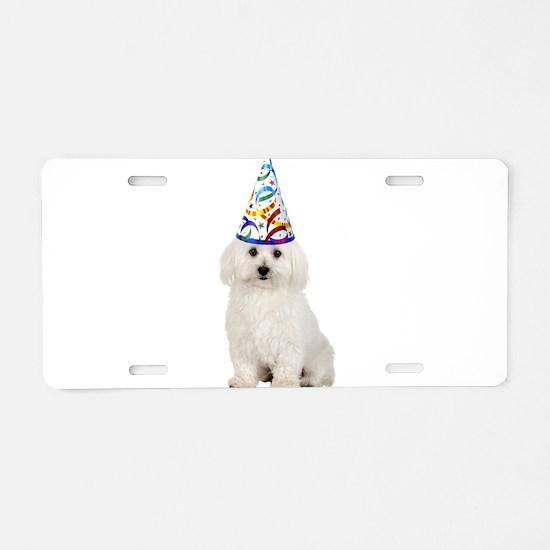 Bichon Frise Party Aluminum License Plate
