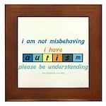 Understand Autism Framed Tile