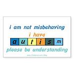 Understand Autism Rectangle Sticker