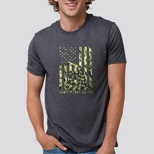 Don't Tread on Me Camo American Flag T-Shirt