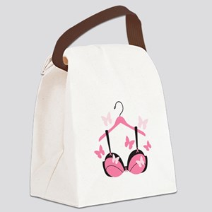 Breast Cancer Bra Canvas Lunch Bag