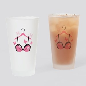 Breast Cancer Bra Drinking Glass