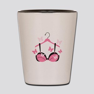 Breast Cancer Bra Shot Glass