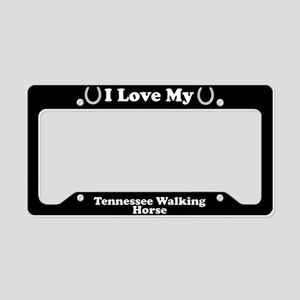 I Love My Tennessee Walking Horse License Plate Ho