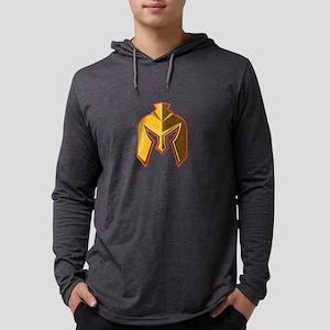 Spartan Helmet Retro Long Sleeve T-Shirt