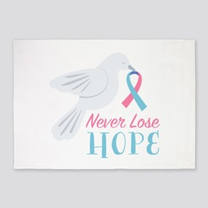 Never Lose Hope 5'x7'Area Rug