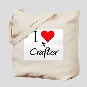 I Love My Crafter Tote Bag