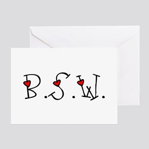 BSW Hearts Greeting Card
