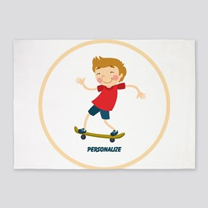 Gifts for Kids Personalized Skating 5'x7'Area Rug