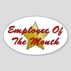 Employee Of The Month Oval Sticker
