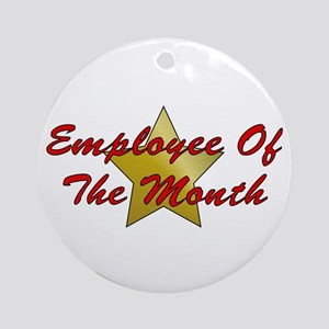 Employee Of The Month Ornament (Round)