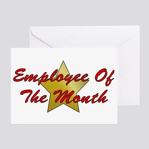Employee of the month greeting cards cafepress employee of the month greeting card m4hsunfo