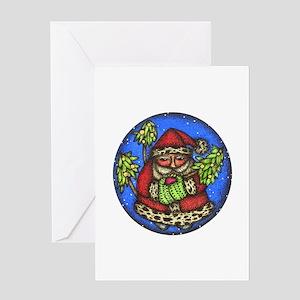 Santa Globe Greeting Card