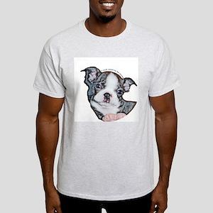 Boston Terrier Puppy Ash Grey T-Shirt