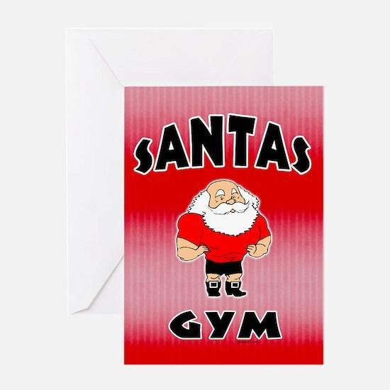 Santa's Gym Greeting Card