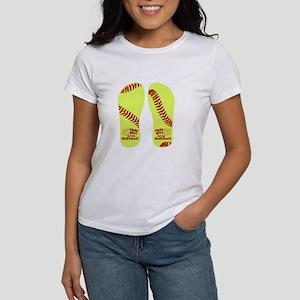 This Girl Loves Softbal Women's Cap Sleeve T-Shirt