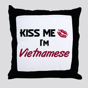 Kiss me I'm Vietnamese Throw Pillow