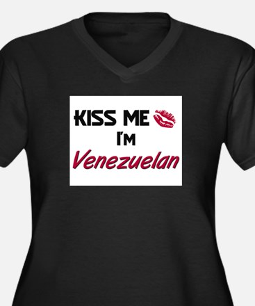 Kiss me I'm Venezuelan Women's Plus Size V-Neck Da