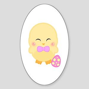 Easter Time Kamo Oval Sticker