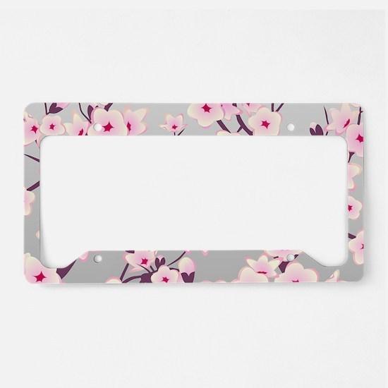 Cherry Blossom License Plate Holder