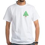 Baseball Tree Pocket Image White T-Shirt