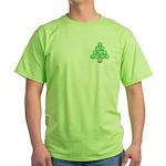 Baseball Tree Pocket Image Green T-Shirt