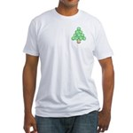 Baseball Tree Pocket Image Fitted T-Shirt