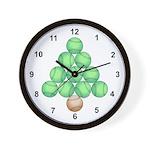 Baseball Tree Wall Clock