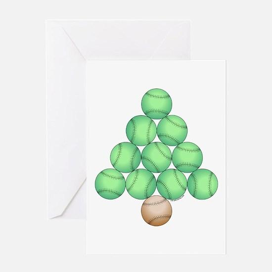 Baseball Tree Greeting Card