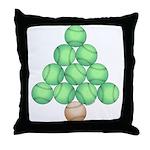 Baseball Tree Throw Pillow