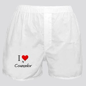 I Love My Counselor Boxer Shorts
