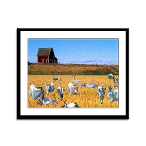 In the wheat Framed Panel Print
