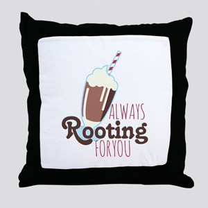 Rooting For You Throw Pillow