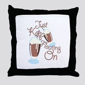 Keep Floating Throw Pillow